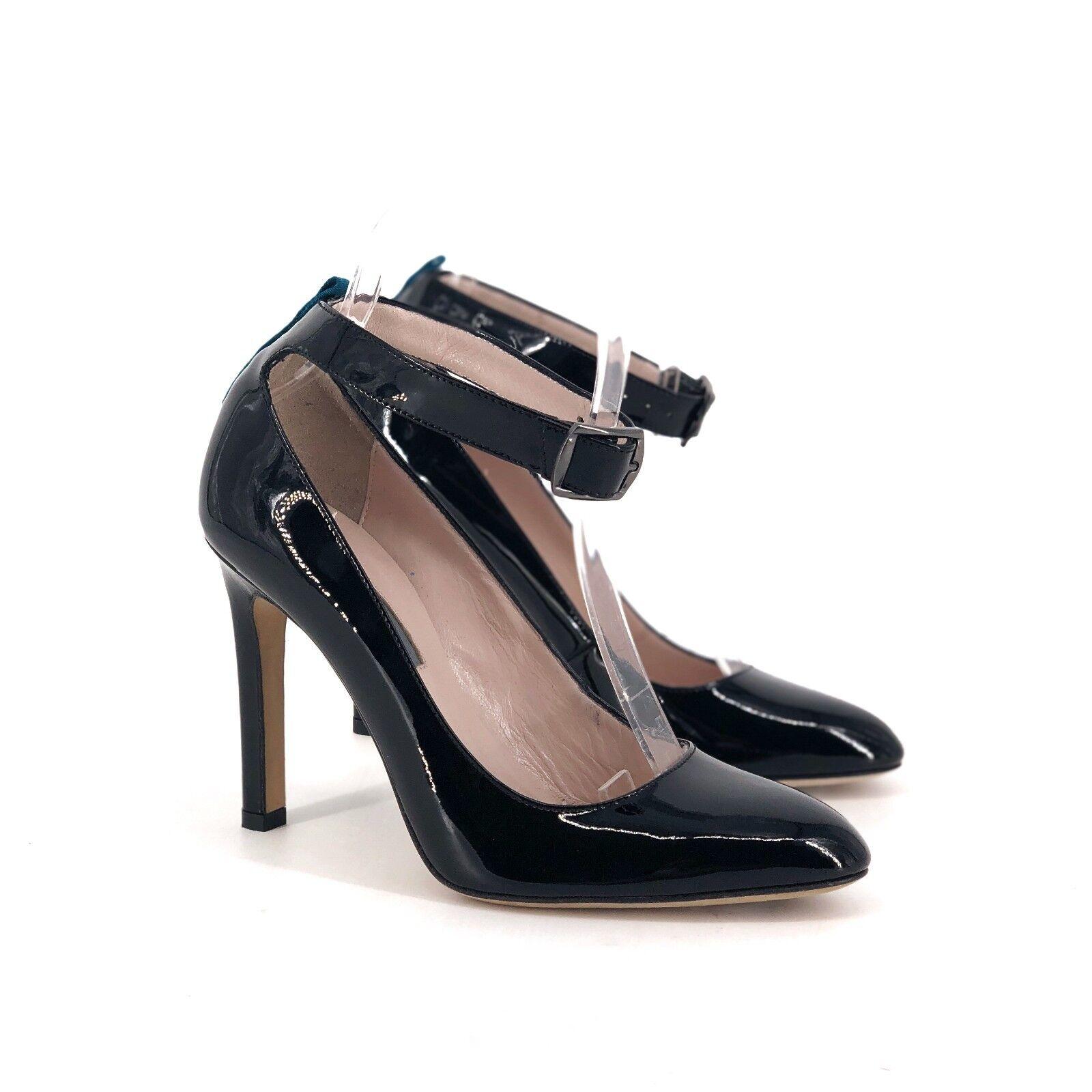 SJP Sarah Jessica Parker Posh Patent Leather Ankle Strap Pump EUR 36.5 US 6.5