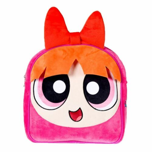 BUBBLES Soft Plush School Back THE POWERPUFF GIRLS HEAD PLUSH BACKPACK BLOSSOM