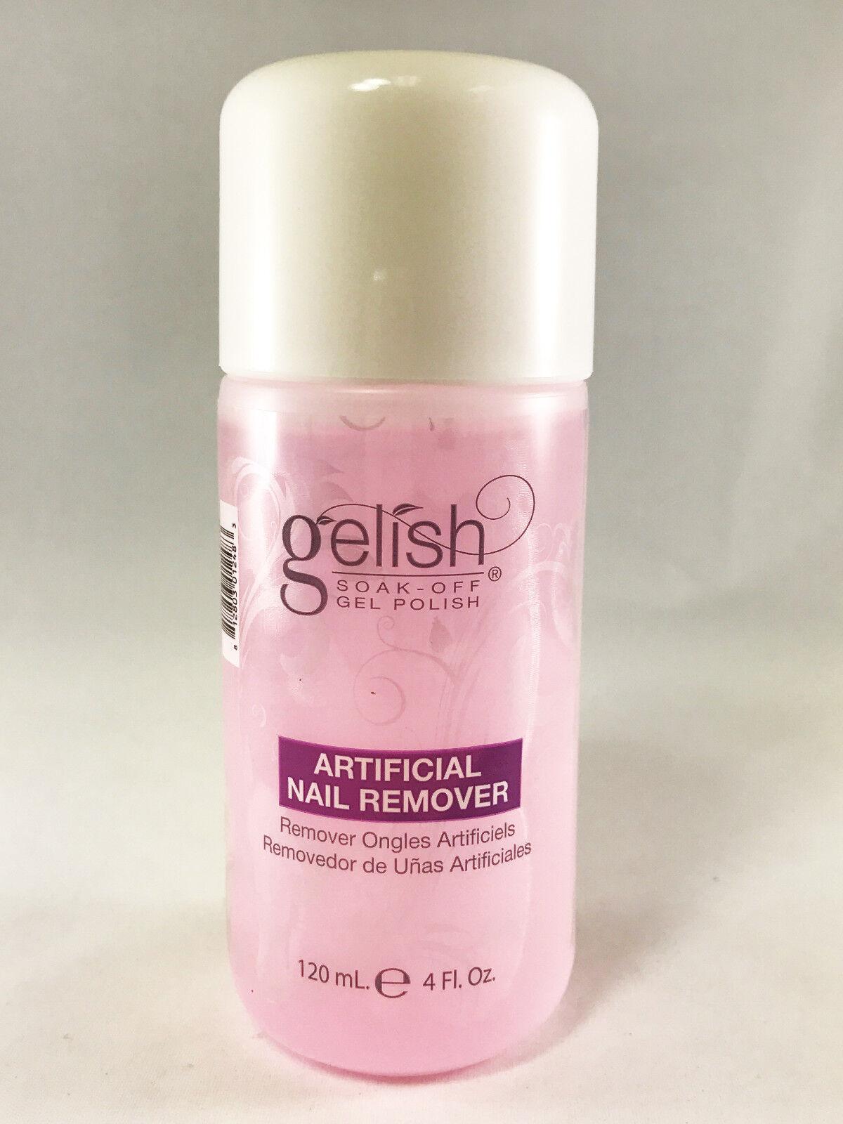 Gelish Artificial Color Soak off GEL Nail Polish Remover 120ml (4 FL ...