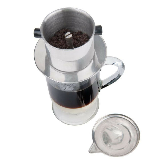 COFFEE INFUSER VIETNAMESE STYLE STAINLESS STEEL FILTER CA PHE SU DA NEW!