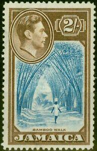 Jamaica 1938 2s Blue & Chocolate SG131 Fine Lightly Mtd Mint