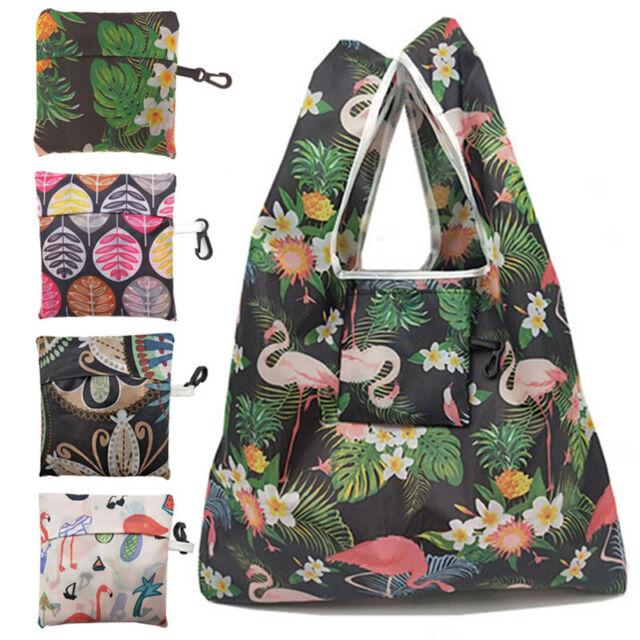 Women Foldable Eco Reusable Shopping Bag Tote Bag Supermarket Storage Bag