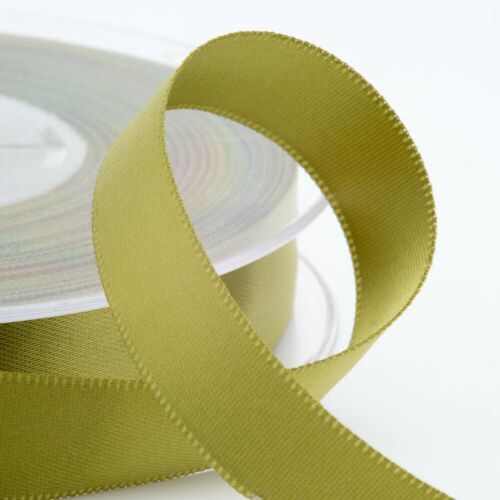 Full Reel Satin Ribbon Double Sided Faced  25m 50 Metre Choice Widths Craft