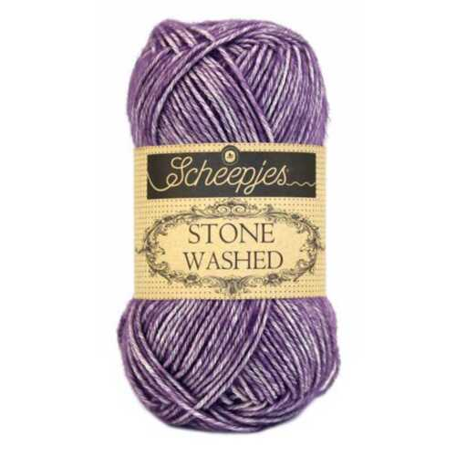 Scheepjes Yarns cotton blend Deep Amethyst :Stone Washed #811: