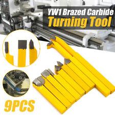 Alloy Lathe Tools Turning Carbide Brazed Tipped Milling Welding Bit 9Pcs Part oz