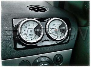 Double-Air-Vent-Gauge-Vauxhall-Opel-Astra-H-MK5-VXR-Pod-Adapter-Gloss-black-ABS
