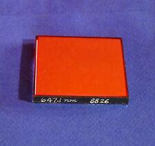 6471nm Bandpass Filter 3nm Fwhm 2x2 Krypton Laser Line Optical Interference