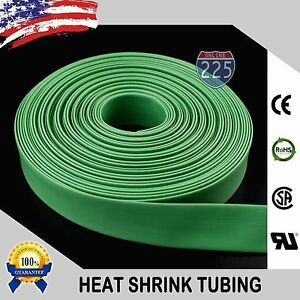 "50 FT 50' Feet GREEN 3/8"" 9mm Polyolefin 2:1 Heat Shrink Tubing Tube Cable US UL"