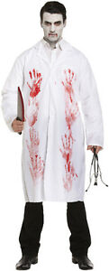 White-Blood-Stain-Doctors-Halloween-Lab-Coat-Surgeon-Zombie-Fancy-Dress-Costume