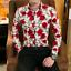 Floral Slim Fit Long Sleeve Mens M-3XL Outwear Wedding Party Dress Shirt Tops SZ