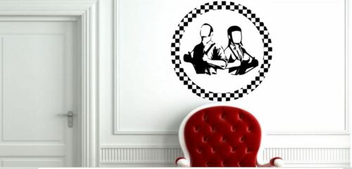 Skinhead Boy and Girl with braces rude Circle Ska Music Vinyl Decal Sticker