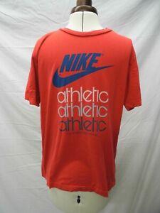 Genuine-VINTAGE-MEN-039-S-80s-90s-Rojo-Atletico-Nike-T-SHIRT-SIZE-UK-M