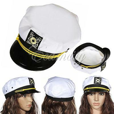 Unisex Peaked Sailor Navy Captain Boating Nautical Hat Adult Fancy Dress Costume