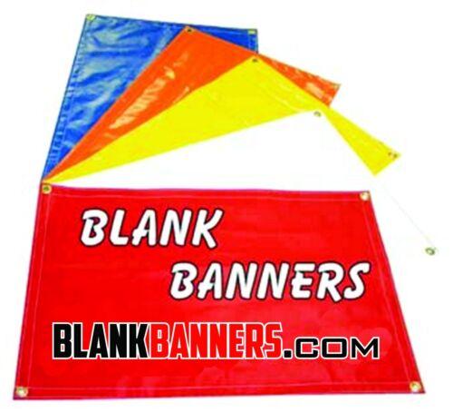 1 WHITE  2 ft One Sewn Vinyl Blank Banner Sign 13oz x 12 ft Grommets 2x12