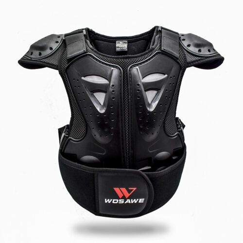 Kids Back Chest Spine Protector Elbow Knee Pads Safety Helmet Dirt Bike Armour