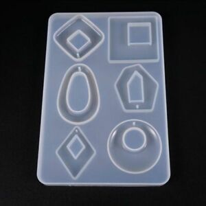 Details about Silicone Earring Necklace Pendant Mold Resin Casting Jewelry  Mold Making