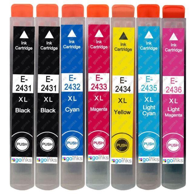 7 Cartuchos de tinta para Epson Expression Photo XP-750, XP-850, XP-950