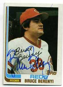 BRUCE BERENYI  Signed Autographed 1982 Topps #459  Reds  PSA Guarantee