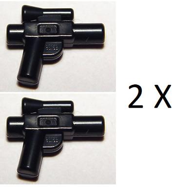 92738 NEW LEGO 2 X Black Weapon Gun Blaster Small  FROM SET 75159 STAR WARS