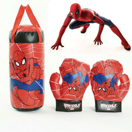 Kinder Sport Spider-Man Boxhandschuhe Boxsack Set Superheld Hängend Geschenk Hot