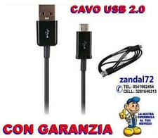 CAVO DATI MICRO USB X LG SAMSUNG NOKIA SONY SMARTPHONE PC COMPUTER HTC NERO