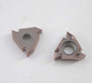 "50PCS MMT 16IR AG60 US735 Carbide Insert Blade Lathe Threading  16IR 3//8/"" AG60"
