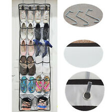 22 Pockets Over the Door Shoe Organizer Space Saver Rack Hanging Storage