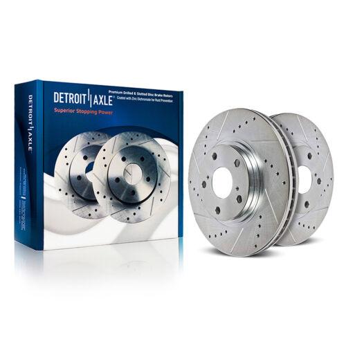 Ceramic Pads 2009-2011 Audi A4 A5 Quattro 320mm Front Drilled Disc Brake Rotor