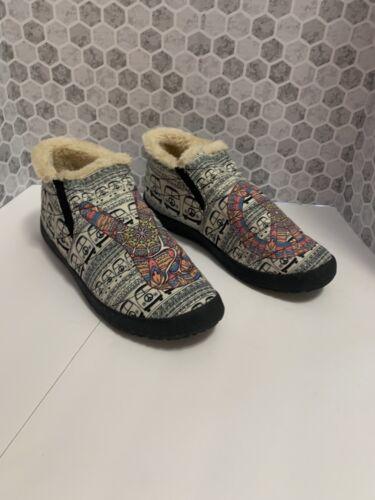 Beige Peace Mandala Casual Slip On Shoes