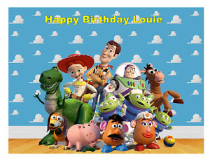 Toy Story Personnalisé A4 Cake Birthday Cake Topper Plaquette/icing Sheet-afficher Le Titre D'origine 5rp2ngty-12152600-156823582