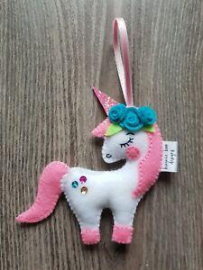 Fatto-A-MANO-per-albero-di-Natale-Decorazioni-Unicorno-Carino
