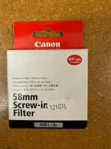 CANON 58MM ND8L 8X Filtro de densidad neutra-Tornillo en