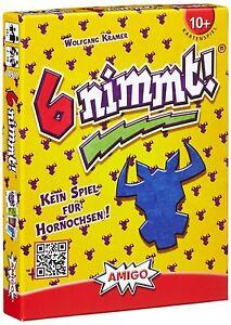 Amigo-6-nimmt-Kartenspiel-Kinder-Karte-Karten-Spiel-Spielzeug-Kinderspiel-NEU