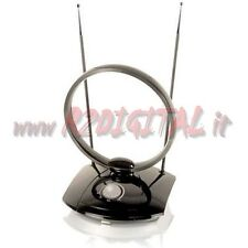 ANTENNA TV DVB-T 38 dB TELEVISORE DIGITALE TERRESTRE AMPLIFICATA CAMPER AUTO HD
