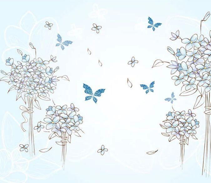 3D Schmetterlinge 24437 Fototapeten Wandbild Fototapete BildTapete Familie DE