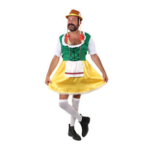 MENS BAVARIAN STAG NIGHT OKTOBER FEST COSTUMES FUNNY BLACK FANCY DRESS BROWN HAT