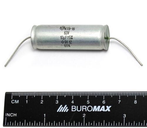 12 x 10uF 63V 5/% K73-16 PETP Polyethylene Film Capacitors NOS New