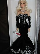"Effanbee Tonner 16"" DAPHNE DIMPLES ""BLACK AND WHITE BALL"" ~ With Box & Shipper"