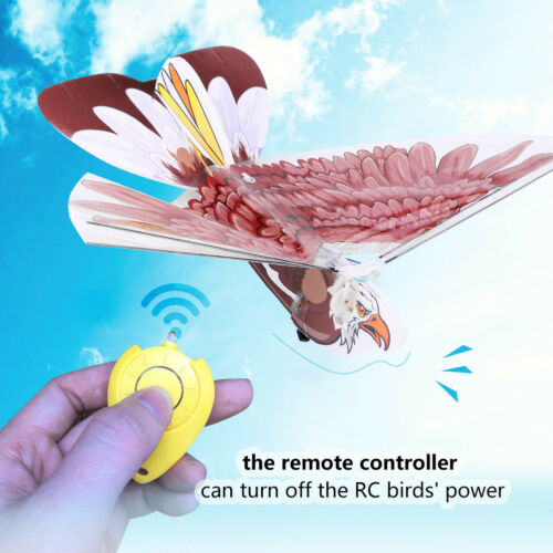 RC Flying Bionic Bird Eagle Remote Ornithopter Drone Control Flying Bird Toy ❤mo