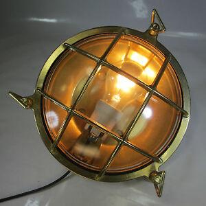 Ehrlich Maschinenraum Lampe Schutzgitter Messing Decklampe Kajüten Lampe Schiffslampe