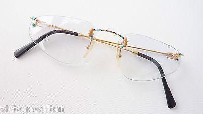 Brille Legende By Vidivici Eyecatcher Randlose Designerbrille Bunt-gold Grösse M