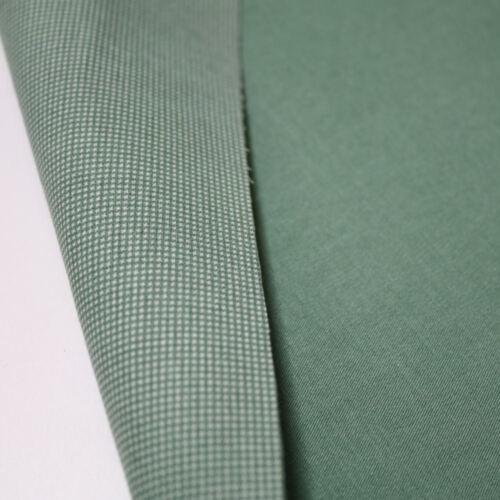 Stretch Baumwoll Dekostoff Bekleidungs Gardinenstoff Zweiseitig Oliv Meterware