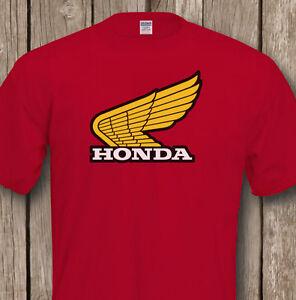 Classic-Biker-HONDA-T-SHIRT-Premium-Quality-Tee-Flock-Design