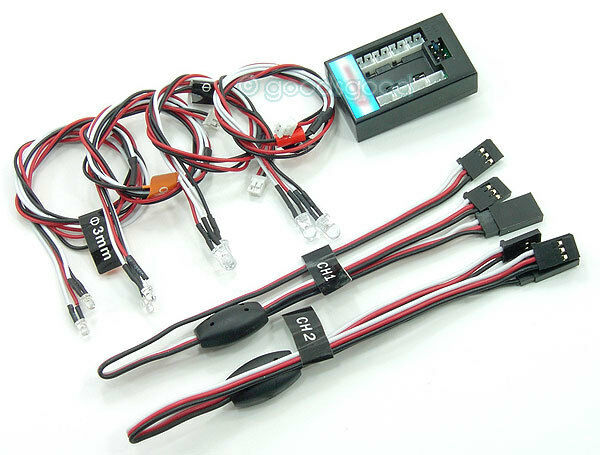 Kit de luces LED se ajusta T Maxx, Revo, Jato xxxnt Ntc3 Tc3 MP7.5 777 X-Maxx Barra Parachoques Cuerpo