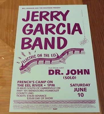 Jerry Garcia Band on the Eel River 1989 Concert Poster Dr John French's  Camp | eBay