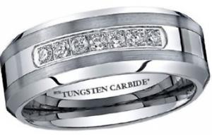 Luxury Created Diamonds Tungsten Carbide Wedding Engagement Ring