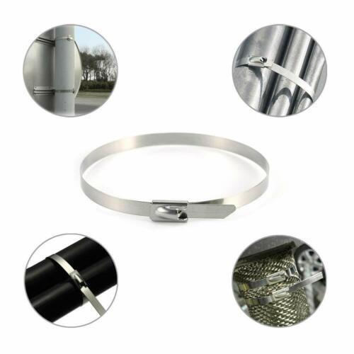 Qualité Acier Inoxydable Attaches de câbles Marine Grade Métal Fermeture Éclair Cravate exhaust wrap
