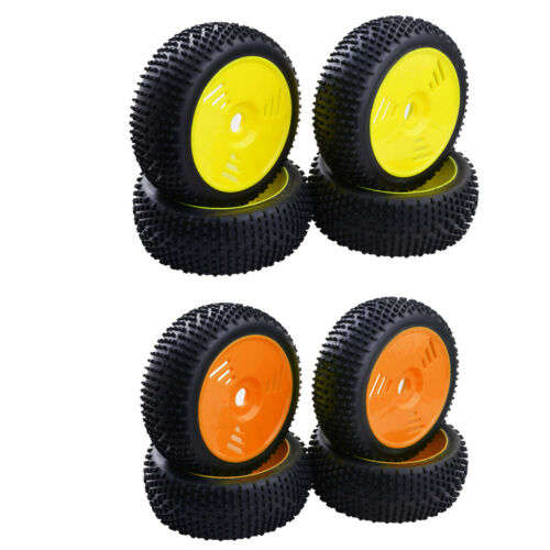 8x Rubber Tires /& Wheels 17mm Hex for 1//8 Team Losi  FS RC Car Buggy