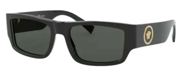 Versace VE4369 GB1//81 Black//Polarized Grey 58mm