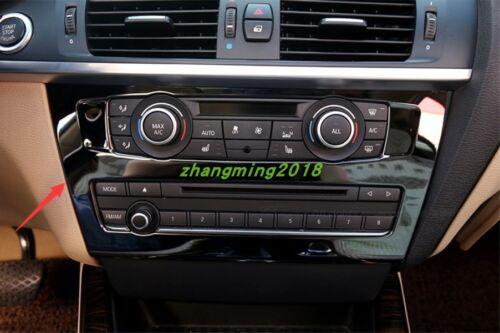 Black titanium Center Console CD Panel Trim For BMW X3 F25 2011-2018